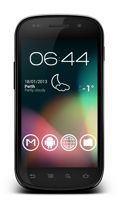 Transparent Status bar Android Jelly Bean