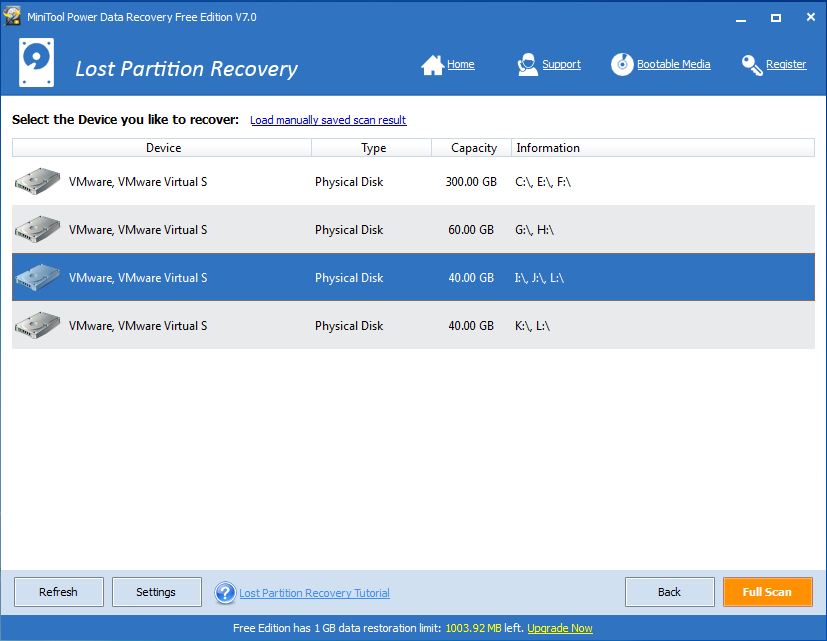 Restore partitions by using diskpart-5