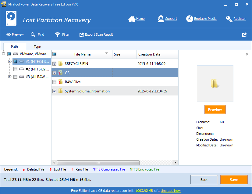 Restore partitions by using diskpart-6